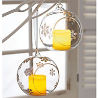 LED Deko-Glashänger Schneeflocke - Produktdetailbild 3