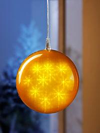 "LED-Dekokugel ""Hologramm"", goldfarben - Produktdetailbild 1"