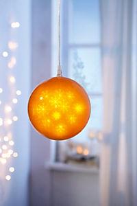 "LED-Dekokugel ""Hologramm"", goldfarben - Produktdetailbild 2"
