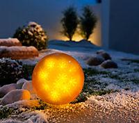"LED-Dekokugel ""Hologramm"", goldfarben - Produktdetailbild 3"