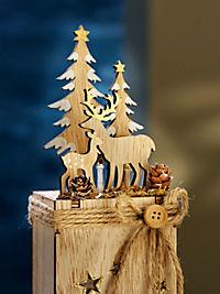 """LED-Dekosockel """"Winterzeit"""", 2er-Set - Produktdetailbild 1"""