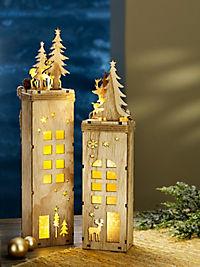 """LED-Dekosockel """"Winterzeit"""", 2er-Set - Produktdetailbild 2"""