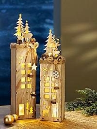 """LED-Dekosockel """"Winterzeit"""", 2er-Set - Produktdetailbild 3"""