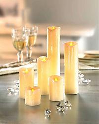 LED-Echtwachskerzen, 6er-Set (Farbe: creme) - Produktdetailbild 2