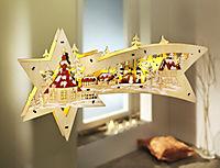 "LED-Fensterbild ""Holzstern"" - Produktdetailbild 1"
