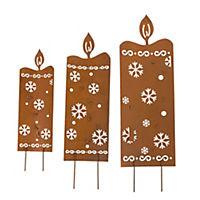 LED Gartenstecker Kerzen, 3-tlg - Produktdetailbild 2