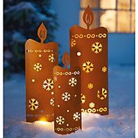 LED Gartenstecker Kerzen, 3-tlg - Produktdetailbild 3
