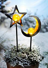 """LED-Gartenstecker """"Stella + Luna"""", 2er-Set - Produktdetailbild 1"""