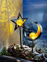 """LED-Gartenstecker """"Stella + Luna"""", 2er-Set - Produktdetailbild 2"""