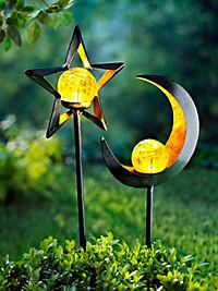 """LED-Gartenstecker """"Stella + Luna"""", 2er-Set - Produktdetailbild 3"""