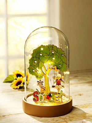 LED-Glaskuppel 4 Jahreszeiten