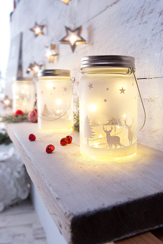 Led Weihnachten.Led Glasleuchten Weihnachten 2er Sparset Bestellen Weltbild De