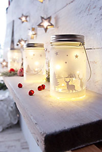 """LED-Glasleuchten """"Weihnachten"""", 2er-Sparset - Produktdetailbild 1"""