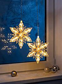 "LED-Hängedeko ""Eiskristall"", 2er-Set - Produktdetailbild 1"