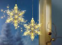 "LED-Hängedeko ""Eiskristall"", 2er-Set - Produktdetailbild 2"
