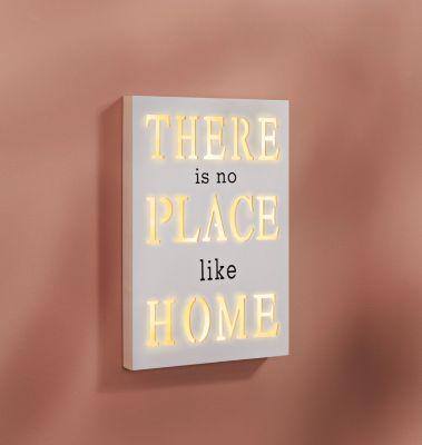 LED-Holzbild Place like Home