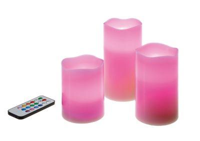 LED-Kerzen Farbenfroh, 3er-Set