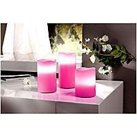 """LED-Kerzen """"Farbenfroh"""", 3er-Set - Produktdetailbild 4"""