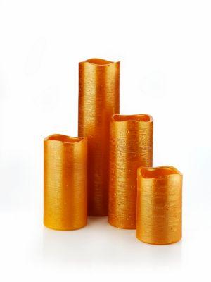 LED-Kerzen Glamour, 4er-Set, orange