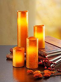 """LED-Kerzen """"Glamour"""", 4er-Set, orange - Produktdetailbild 1"""