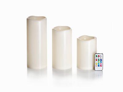LED-Kerzen in Jumbogröße, 3er-Set