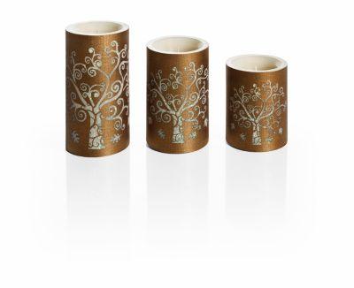 LED-Kerzen Lebensbaum, 3er-Set
