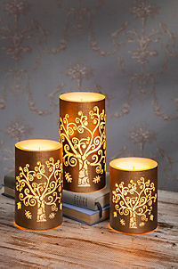 "LED-Kerzen ""Lebensbaum"", 3er-Set - Produktdetailbild 1"