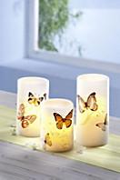 """LED-Kerzen """"Papillon"""", 3er-Set"""