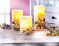 """LED-Kerzen """"Sommerwiese"""", 3er-Set - Produktdetailbild 1"""