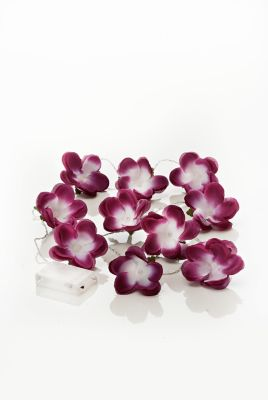 LED-Lichterkette Violet Flower