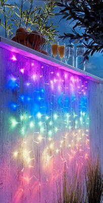LED-Lichtervorhang Regenbogen