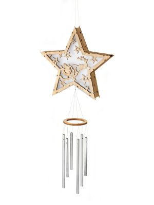 LED-Stern Starlight mit Klangspiel