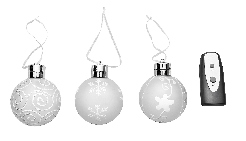 Led weihnachtskugeln deluxe 3er set bestellen - Weihnachtskugeln fenster ...
