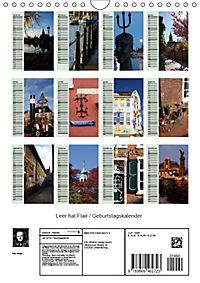 Leer hat Flair / Geburtstagskalender (Wandkalender 2019 DIN A4 hoch) - Produktdetailbild 13