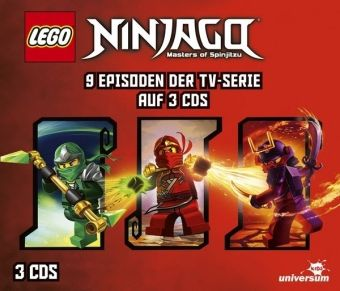 LEGO Ninjago Hörspielbox, 3 Audio-CD, Diverse Interpreten