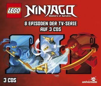 LEGO Ninjago Hörspielbox, 3 Audio-CDs, Diverse Interpreten