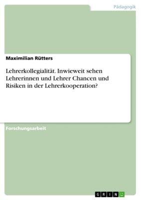 Lehrerkollegialität. Inwieweit sehen Lehrerinnen und Lehrer Chancen und Risiken in der Lehrerkooperation?, Maximilian Rütters