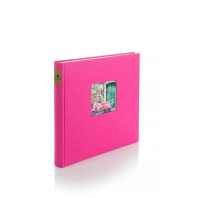 Leinenalbum Bella Vista, pink, 25x25 cm
