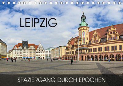 Leipzig - Spaziergang durch Epochen (Tischkalender 2019 DIN A5 quer), Val Thoermer