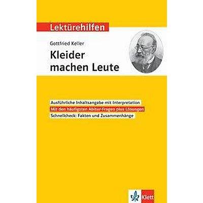 Lekturehilfen Gottfried Keller Kleider Machen Leute Buch Kaufen