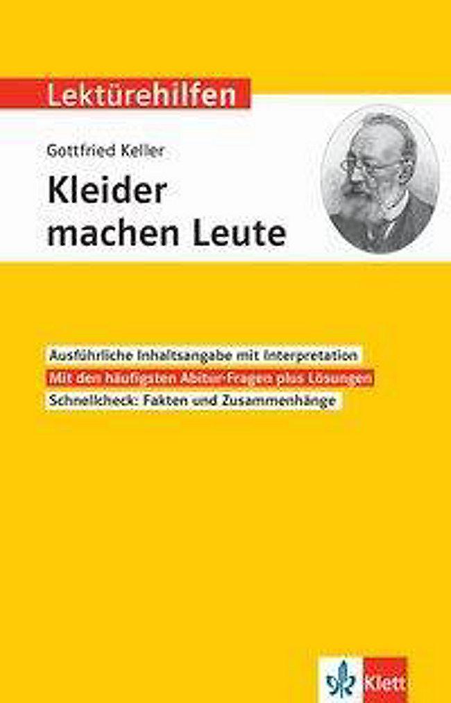 Lekturehilfen Gottfried Keller Kleider Machen Leute Jetzt Kaufen