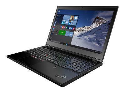 LENOVO ThinkPad P50 i7-6820HQ 39,6cm 15,6Zoll FHD 2x8GB 512GB SATA-SSD W7P64/W10P64 NVIDIA QuadroM1000M/4GB FPR Cam Topseller