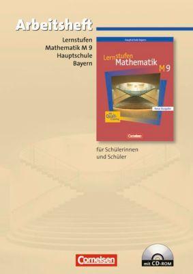 Lernstufen Mathematik, Hauptschule Bayern, Neue Ausgabe: 9. Jahrgangsstufe, Arbeitsheft m. CD-ROM (M-Klassen)