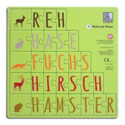 Leselernpuzzle 04. Wald und Wiese