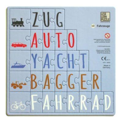 Leselernpuzzle 10. Fahrzeuge
