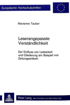 Leserangepasste Verständlichkeit - Marianne Tauber |