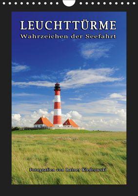 Leuchttürme - Wahrzeichen der Seefahrt (Wandkalender 2019 DIN A4 hoch), Rainer Kiedrowski