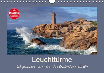 Leuchttürme - Wegweiser an der bretonischen Küste (Wandkalender 2019 DIN A4 quer), LianeM