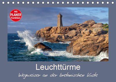 Leuchttürme - Wegweiser an der bretonischen Küste (Tischkalender 2019 DIN A5 quer), LianeM