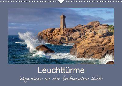 Leuchttürme - Wegweiser an der bretonischen Küste (Wandkalender 2019 DIN A3 quer), LianeM